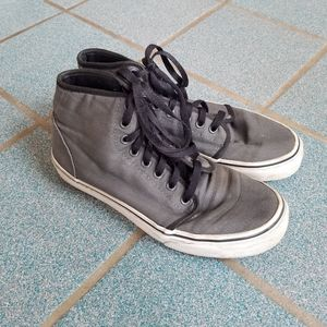 Vans Gray High Top Sneakers Shoes Women's 8.5